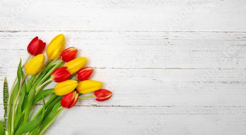 Foto op Plexiglas Tulp Tulpenstrauß