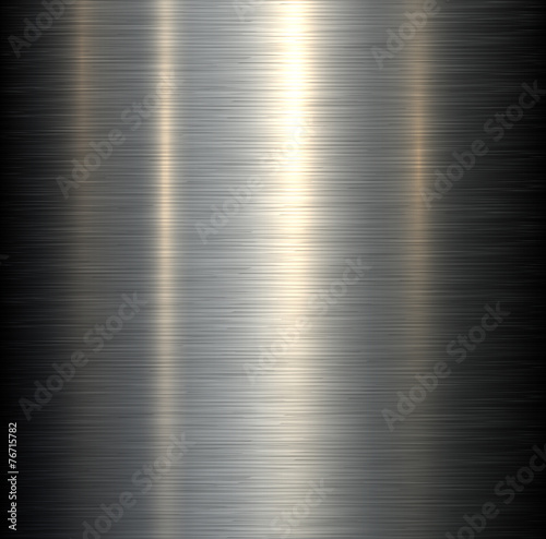 Fotografía  Steel metal background brushed metallic texture