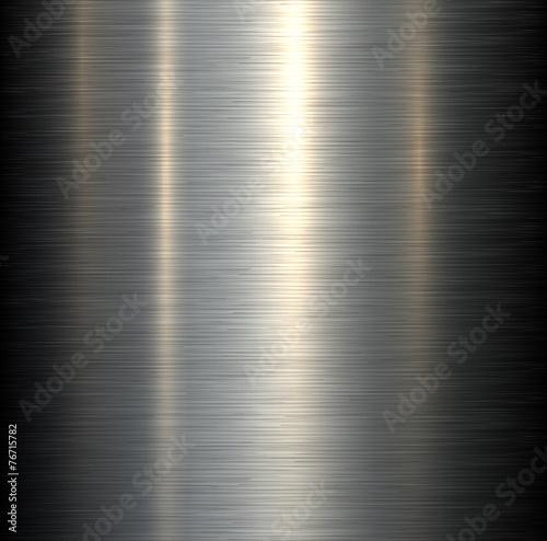 Fotografía  Steel metal background brushed metallic texture