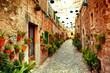 Leinwandbild Motiv Street in Valldemossa village