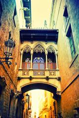 Panel Szklany Uliczki Gothic quarter in Barcelona