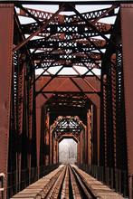 Historical Railway Bridge In Richmond, Texas