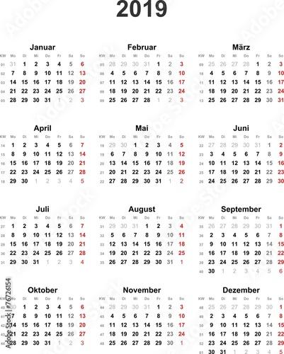 kalender 2019 universal ohne feiertage buy this stock. Black Bedroom Furniture Sets. Home Design Ideas