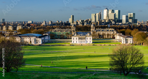 London, Panorama from Greenwich Canvas Print