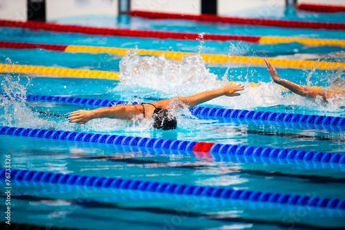 Fotografía  butterfly swimming race