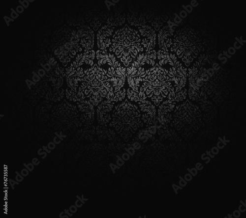 Dunkle Tapete In Barockem Stil Buy This Stock Photo And Explore