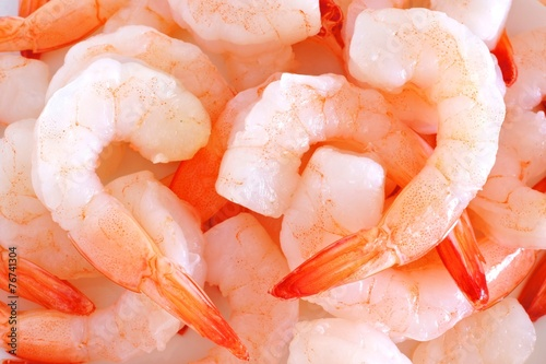 Valokuva Group of shrimp forming a background