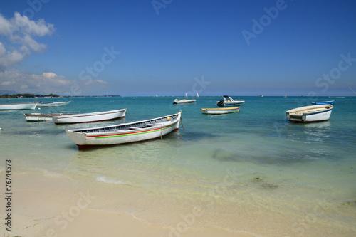 Deurstickers Australië Africa, picturesque area of La Pointe Aux Canonniers in Mauritiu