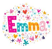 Emma Female Name Decorative Le...