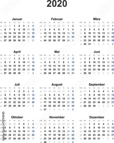 kalender 2020 universal ohne feiertage kaufen sie diese vektorgrafik und finden sie hnliche