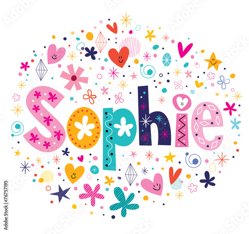 Sophie female name decorative lettering type design Canvas Print