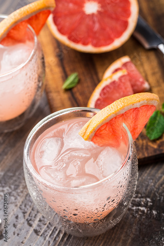 Photo  Grapefruit cocktail