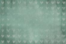 Grüner Herz Hintergrund, Retro, Vintage,