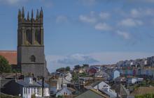View Of Church Brixham Torbay Devon Endland UK