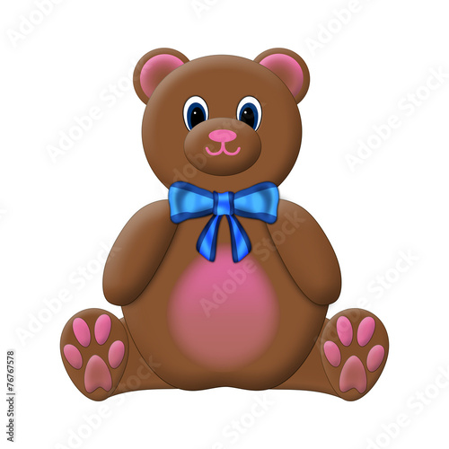 Teddy Bear Isolated on a White Background #76767578