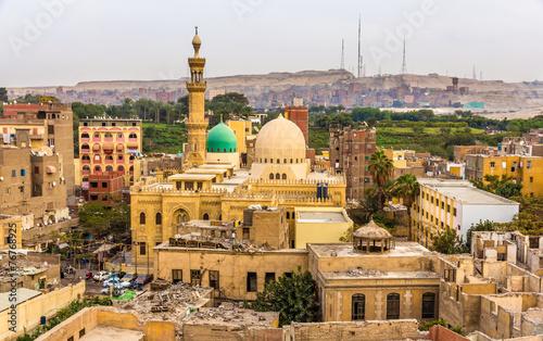 Staande foto Afrika Mosque of El-Sayeda Fatima El-Nabawaya in Cairo - Egypt