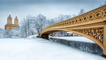 Bow Bridge In Central Park, NYC