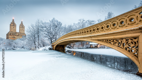 Obraz Bow Bridge w Central Parku w Nowym Jorku - fototapety do salonu