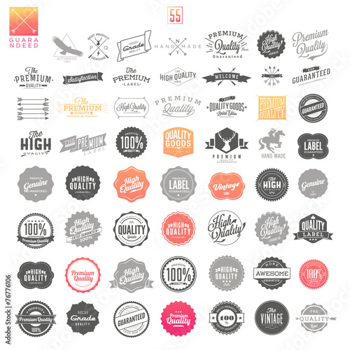 Fotografija  Premium Quality Guarantee Vector Label set
