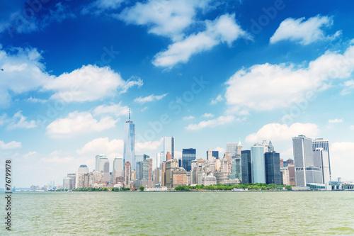 Magnificence of Downtown Manhattan skyline - New York City