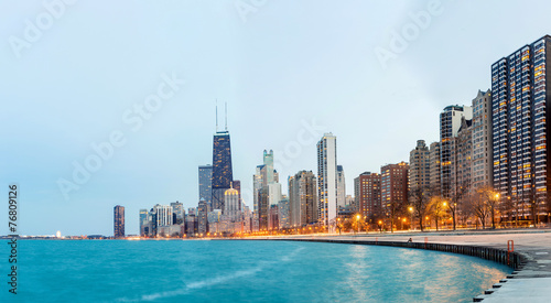 Foto op Canvas Chicago Chicago Panorama Lake Michigan