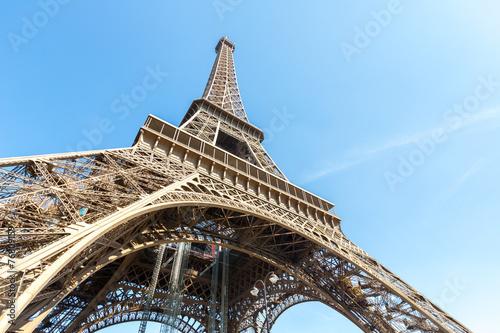 Fototapeta Eiffel Tower Paris summer obraz na płótnie