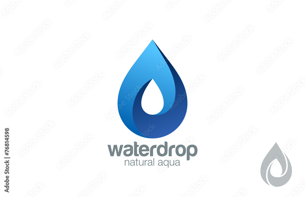 Fototapeta Logo Water drop abstract design. Waterdrop Logotype