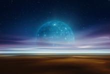 Distant Alien World Fantasy Landscape