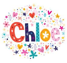 Chloe Female Name Decorative Lettering Type Design
