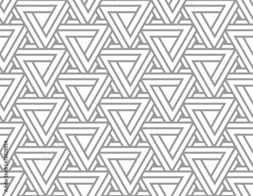 Obraz Penrose Impossible Triangle Seamless Pattern - fototapety do salonu
