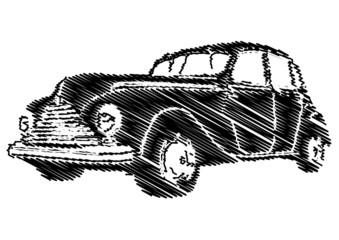 FototapetaEsquisse d'une voiture vintage