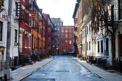 Fotomural  Historic Gay Street in New York City