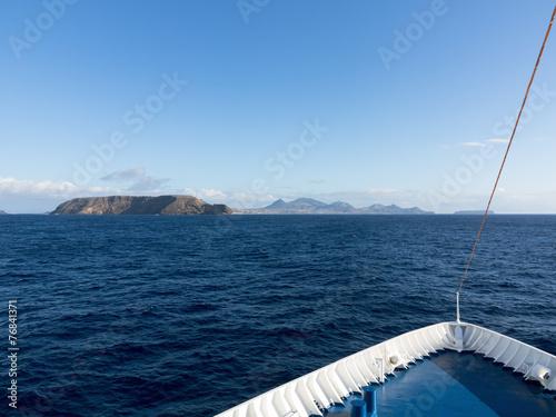 Photo Schiffsbug mit Blick auf die Insel Porto Santo