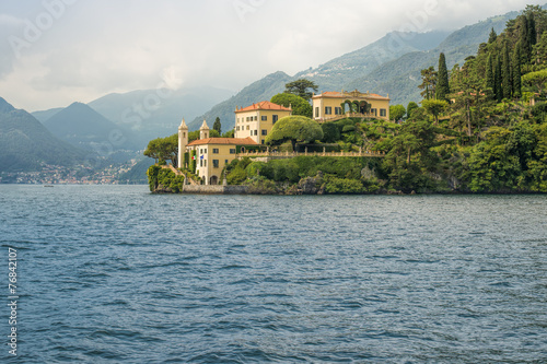 Fototapeta Villa del Balbianello seen from the water, Lake Como, Italy, Eur