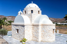 Lonely White Church At Paros I...