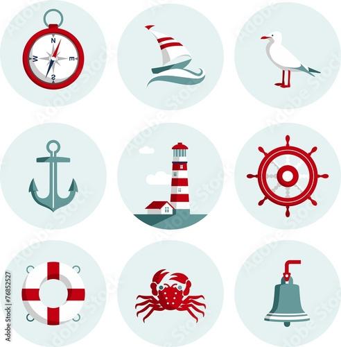 Fotografía  Nautical icons