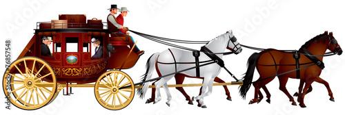 Obraz na plátne Stagecoach