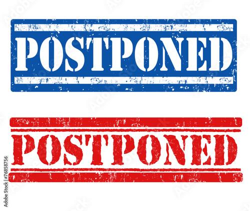Postponed stamps Canvas Print
