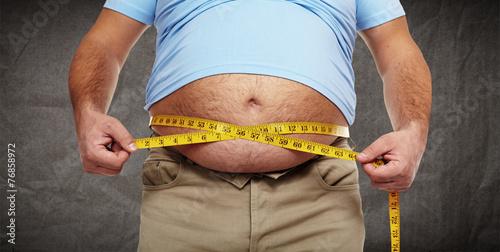 Obesity. Wallpaper Mural