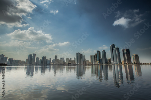 city view of Sharjah city United Arab Emirates UAE
