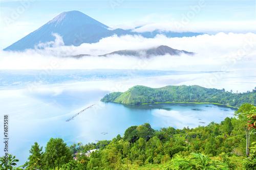 Poster Light blue danau toba lake scenery