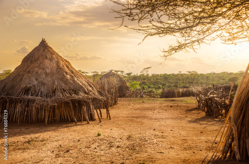 Photo sur Aluminium Afrique Hamer village near Turmi, Ethiopia