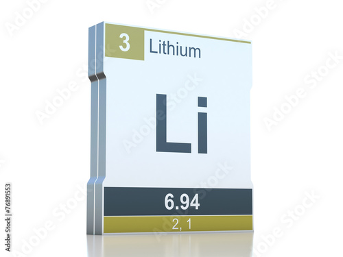 Lithium Symbol Element From The Periodic Table Buy This Stock
