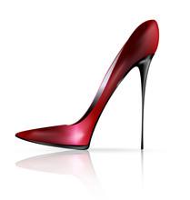 Red Black Shoe