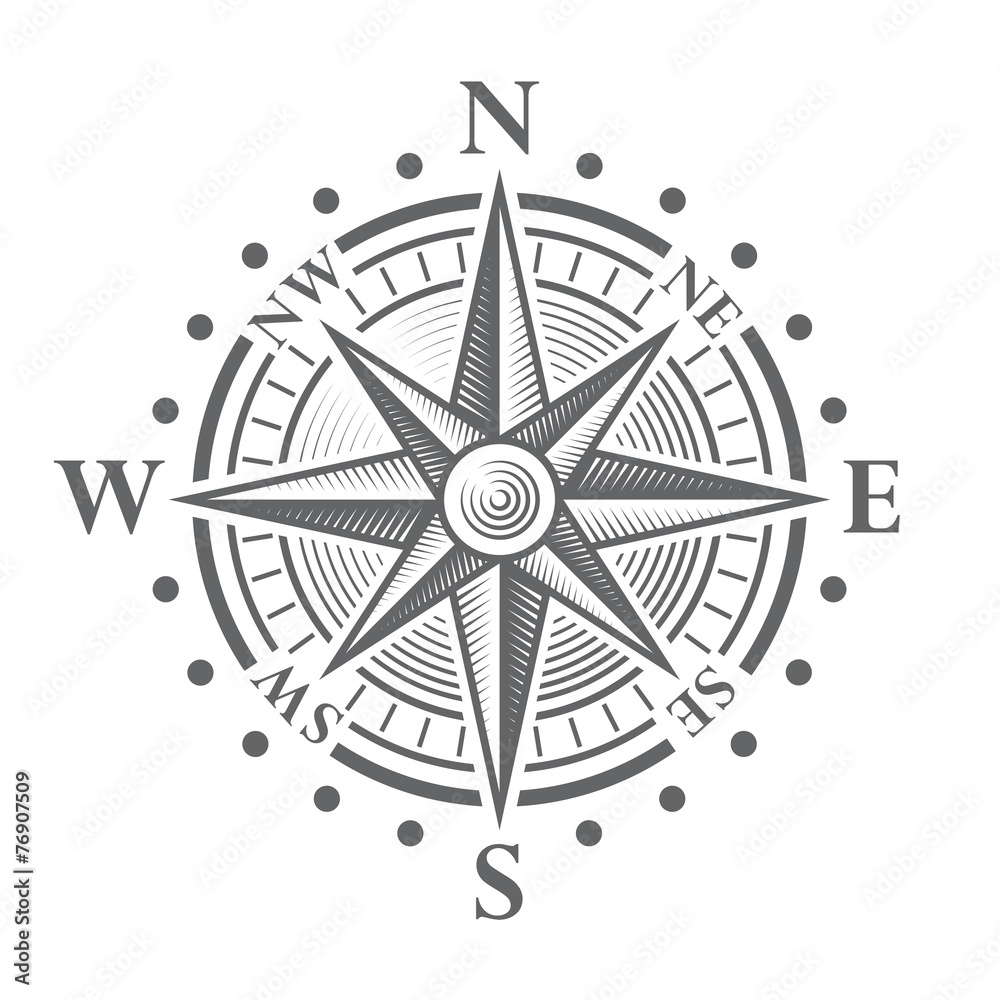 Fototapeta Vector Compass Rose