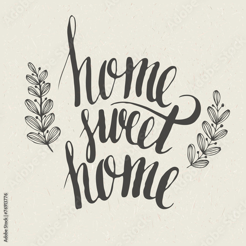 Sweet home lettering Canvas Print