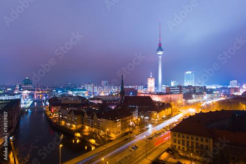 Poster Berlin Berlin am Abend