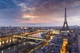 Fototapeta Paryż - Panorama de la ville de Paris avec la Tour Eiffel