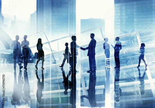 Fotografia  Business People Discussion Communication Cityscape Concept