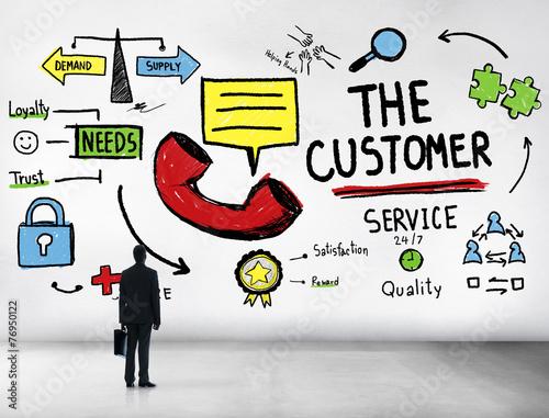 Fotografie, Obraz  The Customer Service Target Market Support Assistance Concept